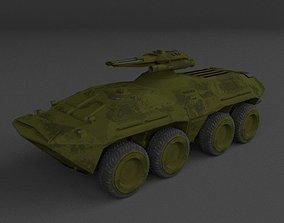 Armoured personnel carrier APC BTR 80 SciFi 3D model