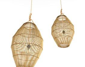 3D model Bamboo rattan lamp 27