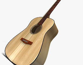 Folk guitar 3D model