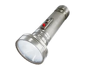 3D asset game-ready pbr flashlight