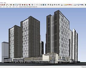 Sketchup 267 - commerical office building 3D model