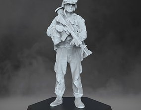 3D printable model US Marine with grenade launcher -