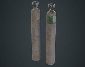 3D model Gas Cylinder 2D