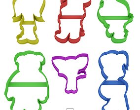 Set Barboskiny cookie cutter for 3D printable model