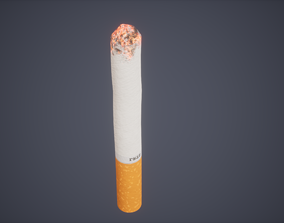 Cigarette Low Poly Game Ready 3D model