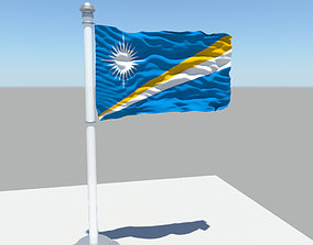 Marshall Islands flag 3D