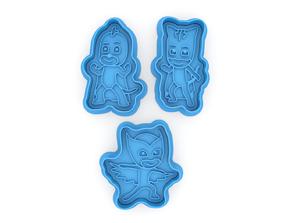 PJ masks collection cookie cutters 3D print model