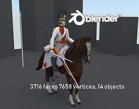 3D asset BAVARIA 1806 Dragoon line cavalery LOW POLY 1