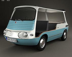 Fiat 600 Multipla Marinella 1958 3D model italian