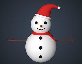 cold 3D model Snowman