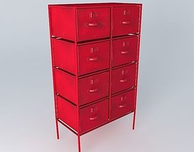 3D model Red Cabinet CRANBERRY houses the world