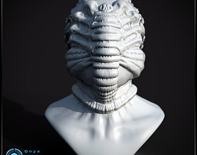 3D printable Face Hugger Bust sculptures