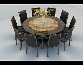 3D model Restaurant table and chair