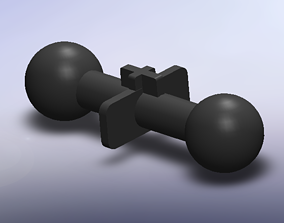 STL 3D Printable Action Figure Ball Joint Hip Peg