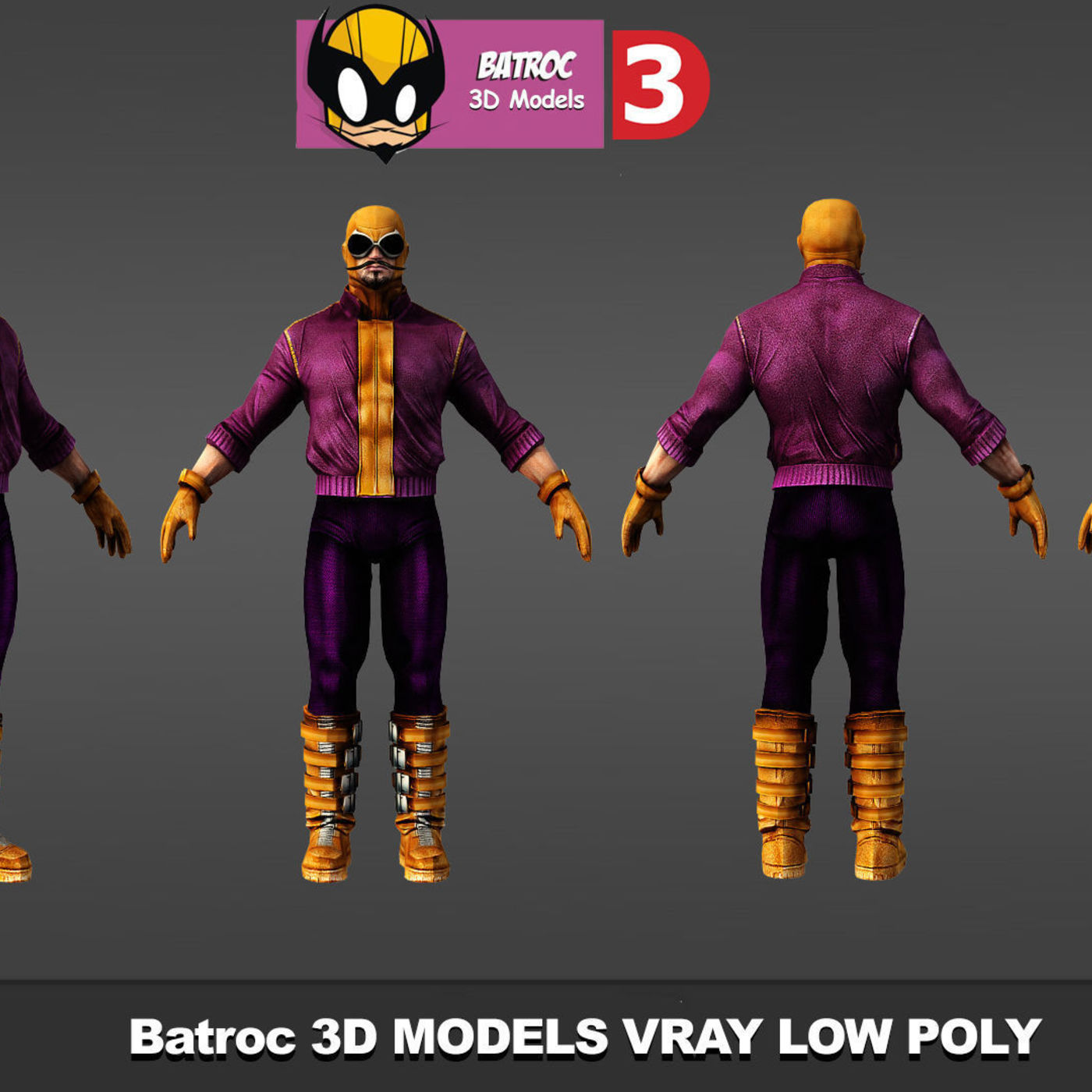 Super Heroes 3D models low poly