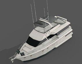 3D model VR / AR ready Yacht
