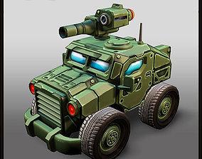 3D model game-ready Cartoon APC 4x4