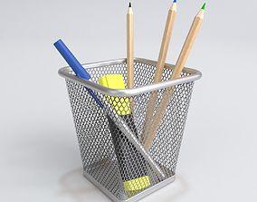 3D model Ikea Dokument Pencil Pen Cup Blender Cycles