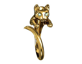 3D print model rings Ring Cat
