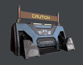 Cyberpunk barrier 01 3D model