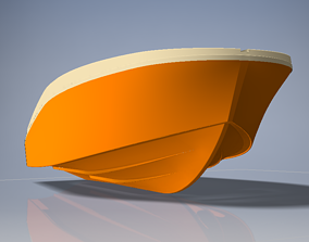 3D 515 cm open boat real scale reade for