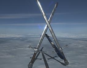 Medieval Sword 2 PBR GR 3D model