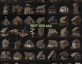 NEXT GEN AAA GIGAPACK MEDIEVAL VILLAGE CITY 3D asset 1