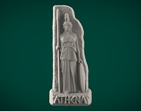 3D printable model Greek Souvenir Fridge Magnet Athena