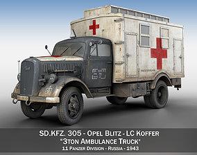 Opel Blitz - 3t Ambulance Truck - 11 PzDiv 3D