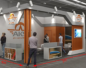Stand Exhibition 02 3D