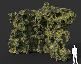 3D model Low poly Mossy Cave Modular 05 200119