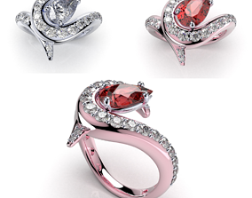 jewelry-designs Women Ring Jewelry Pear Shape 3D Design-R2