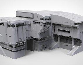 halo sci-fi architecture 3D model
