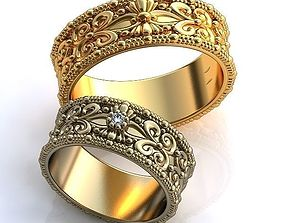 Gold Metal Rings weddingring 3D printable model