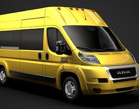 3D model Ram Promaster Window Van 3500 H3 159WB 2020
