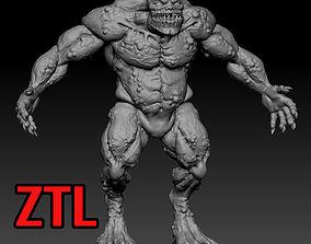 beast 3D print model Creature
