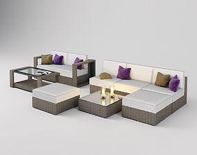 3D Outdoor Seating Set Garden Furniture - Dedon style