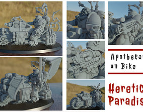 Apothecary on Bike and Bloodpriest on 3D printable model