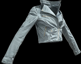 3D asset Grey Leather Jacket