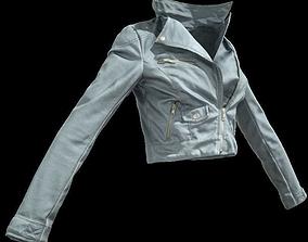 3D asset Grey Leather Jacket