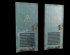 3D asset low-poly Metal Door PBR