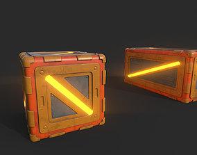 Sci-Fi Boxes 3D asset