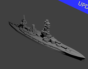 Japanese Fuso Class Battleship 3D print model