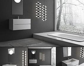 Bathroom furniture set Piana 3D model