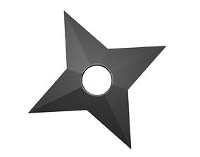 Shuriken low poly 3D model