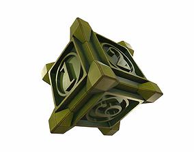 Vintage dice 3D