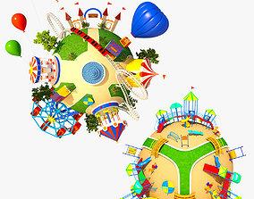 Collection Planet Park 3D model