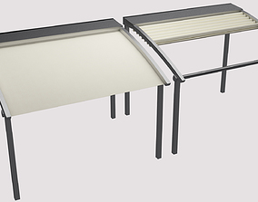 awning open and closed 3D model