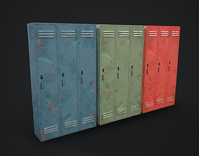 3D model Lockers Rusty - Pack - Game Ready