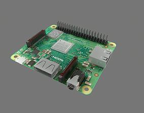 3D asset VR / AR ready Raspberry Pi A